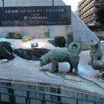 カラフト犬銅像