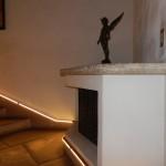 天使のブロンズ像の階段